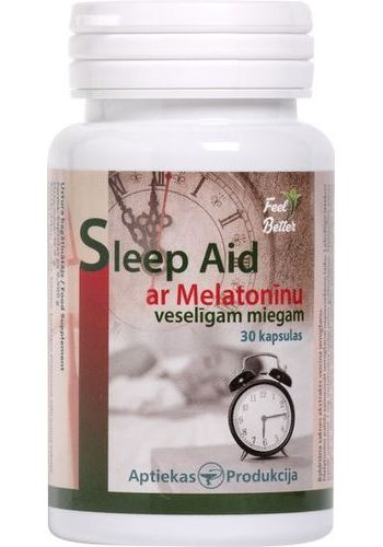 Sleep aid ar melatonīnu